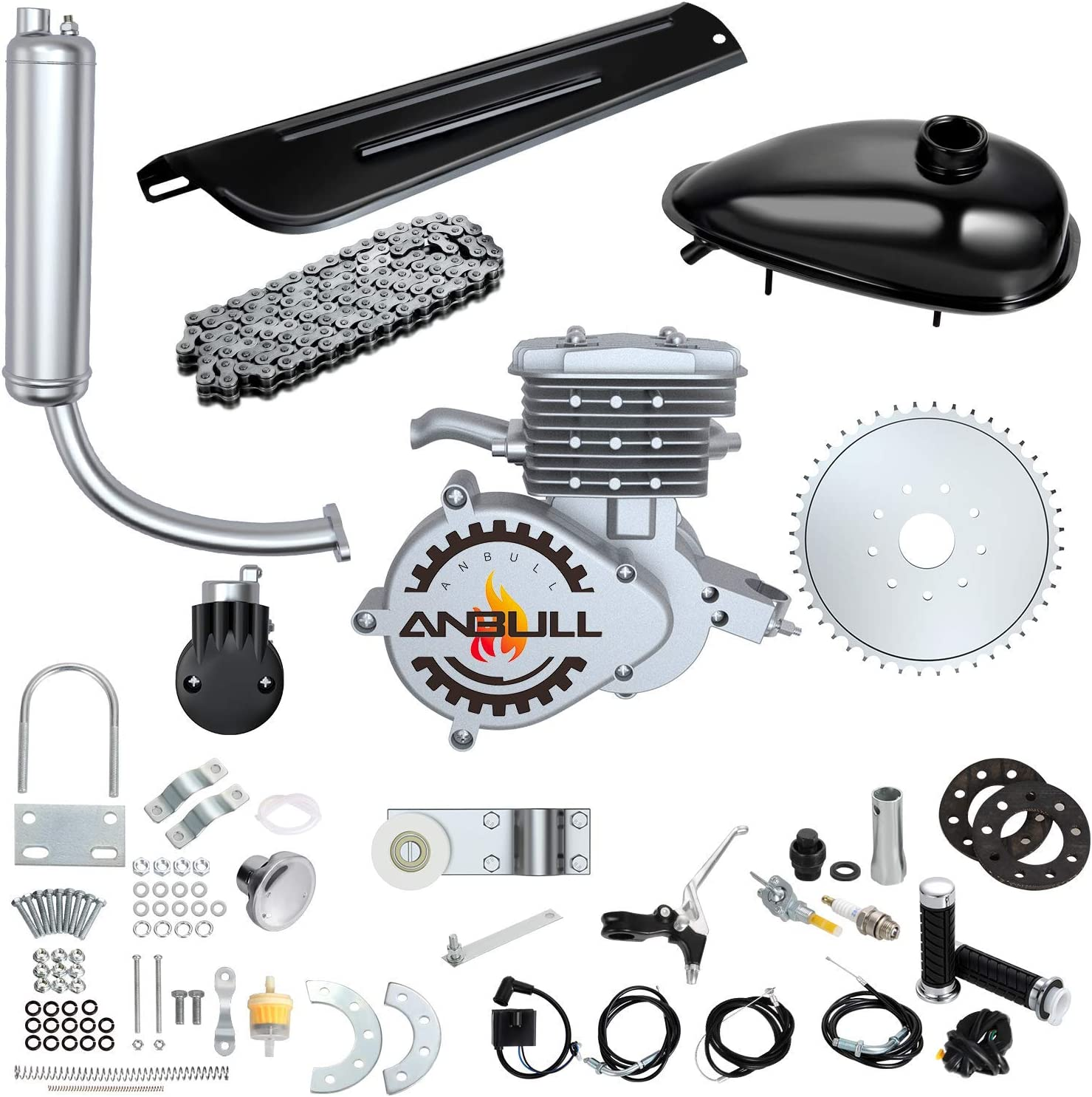 HGC Complete Engine Kit W//Upgraded Chain Tension Black For 80cc 2 Stroke Gas Motorized Bicycle Bike HGC Complete Engine Kit W//Upgraded Chain Tension Black For 80cc 2 Stroke Gas Motorized Bicycle Bike