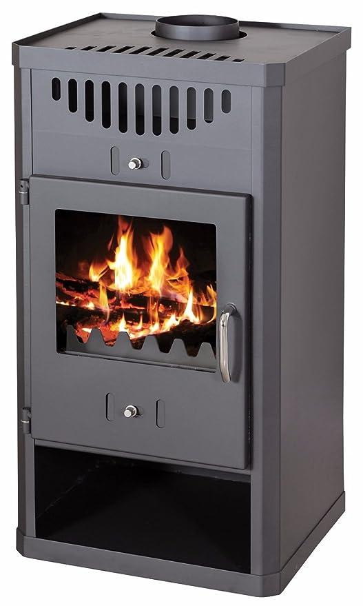 Estufa de leña 11 – 16 kW madera de combustible sólido baja emisión de DIN Plus