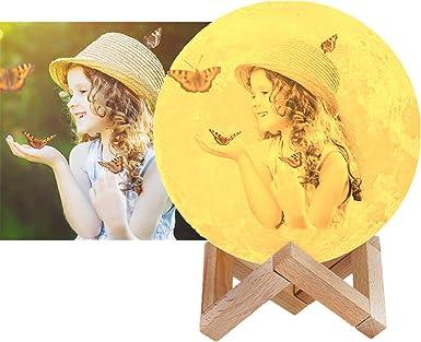 16 Farben Kundenspezifisches Foto Mond Lampe Nachtlampe 3d Mond Lampe Mondlicht Led Light Mond Nachtlicht Lampe Mit Fernbedienung Schlafzimmer Dekor Usb Lade Stimmung Licht Für Tragbare Nachtlampe Beleuchtung