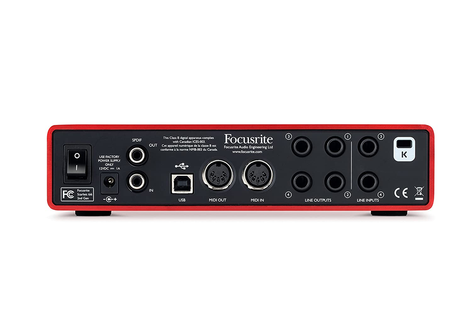 Focusrite Scarlett 6i6 2nd Gen - Interfaz de Audio