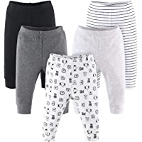 The Peanutshell Baby Pants Set for Boys or Girls | Black, Grey, & Safari Animals | 5 Pack, Newborn to 24 Month Sizes