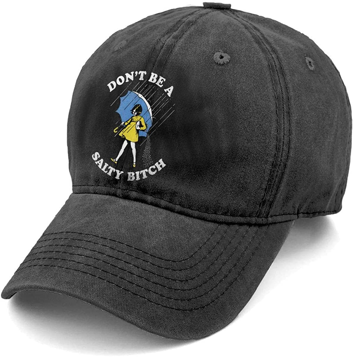Don't Be A Salty Bitch Personalized Vintage Fashion Men & Women Adjustable Denim Dad Hat Cotton Baseball Cap Black