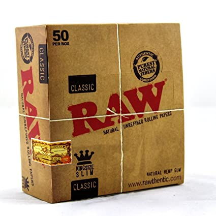 PAPEL RAW LARGO KING SIZE 110MM (CADA ESTUCHE CONTIENE 50 LIBRITOS)