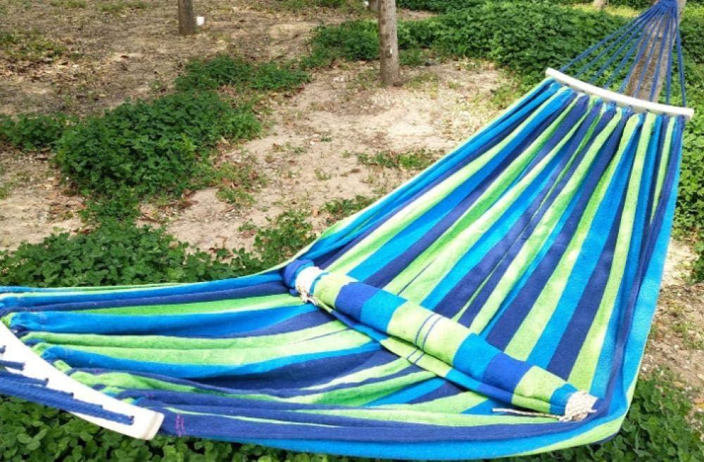 XIAOYY Columpio Hamaca portátil, Hamaca portátil Ligera, Cama Hamaca Columpio para jardín Interior al Aire Libre, Senderismo, mochilero 250 * 80 cm-B: Amazon.es: Jardín