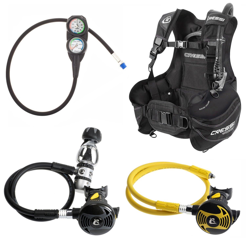new bcd total black medium regulator scuba gear high durable snorkeling swim set ebay