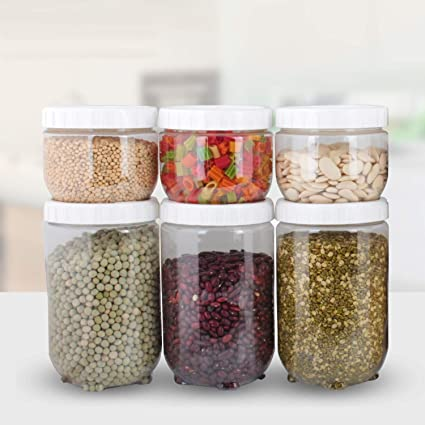 Buy Chefstar Airtight Kitchen Container Set Of 6 For Kitchen Storage Plastic Container White Colour Online At Low Prices In India Amazon In