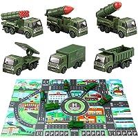 HERSITY Juguetes Militares de Metal Vehículo Militar 6
