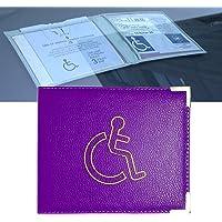 Soporte para insignia de discapacitados de piel sintética