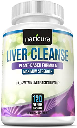 Liver Cleanse Plant Based Detox – 60 Day Healthy Liver Support and Detox Supplement – 120 Capsules with Milk Thistle, Chanca Piedra, NAC and Enzyme Boost
