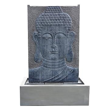 Köhko Wasserspiel Buddha Höhe Ca 150 Cm Mit Led Beleuchtung