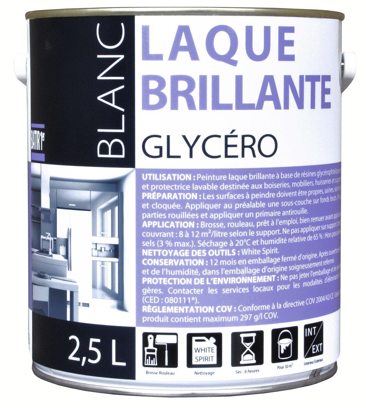 Peinture Glycero Pour Plafond Salle De Bain ~ peinture laque glyc ro batir 1er bo te 2 5 l blanc amazon fr