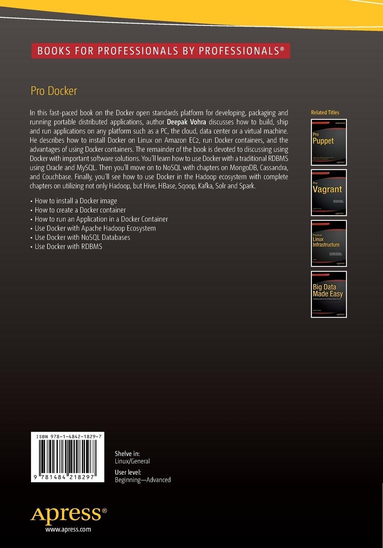 Pro Docker: Deepak Vohra: Amazon com au: Books