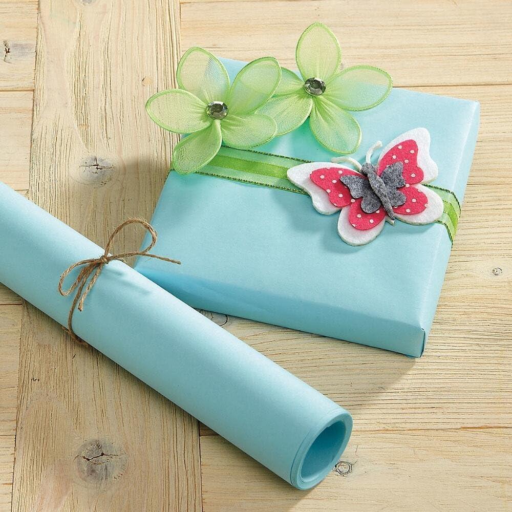 Amazon.com: Azul Pastel regalo Kraft – 40 metros cuadrados ...