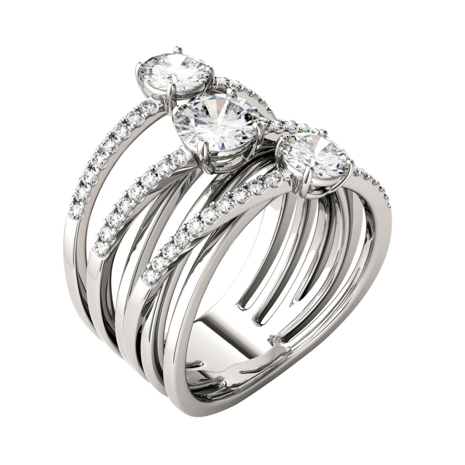 Forever Brilliant Round 6.0mm Moissanite Band Style Ring-size 6, 2.28cttw DEW By Charles & Colvard by Charles & Colvard (Image #2)