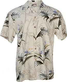 product image for Aloha Bamboo Paradise - Men's Hawaiian Print Aloha Shirt - in Cream
