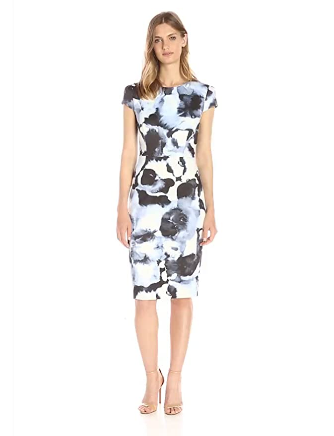 af4657f6d07 Amazon.com  Lark   Ro Women s Cap Sleeve Simple Sheath Dress
