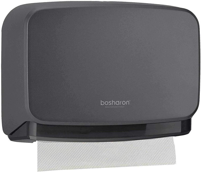 Bosharon Wall Mount Paper Towel Dispenser, Bathroom Tissue Dispenser Tissue Holder (Grey)