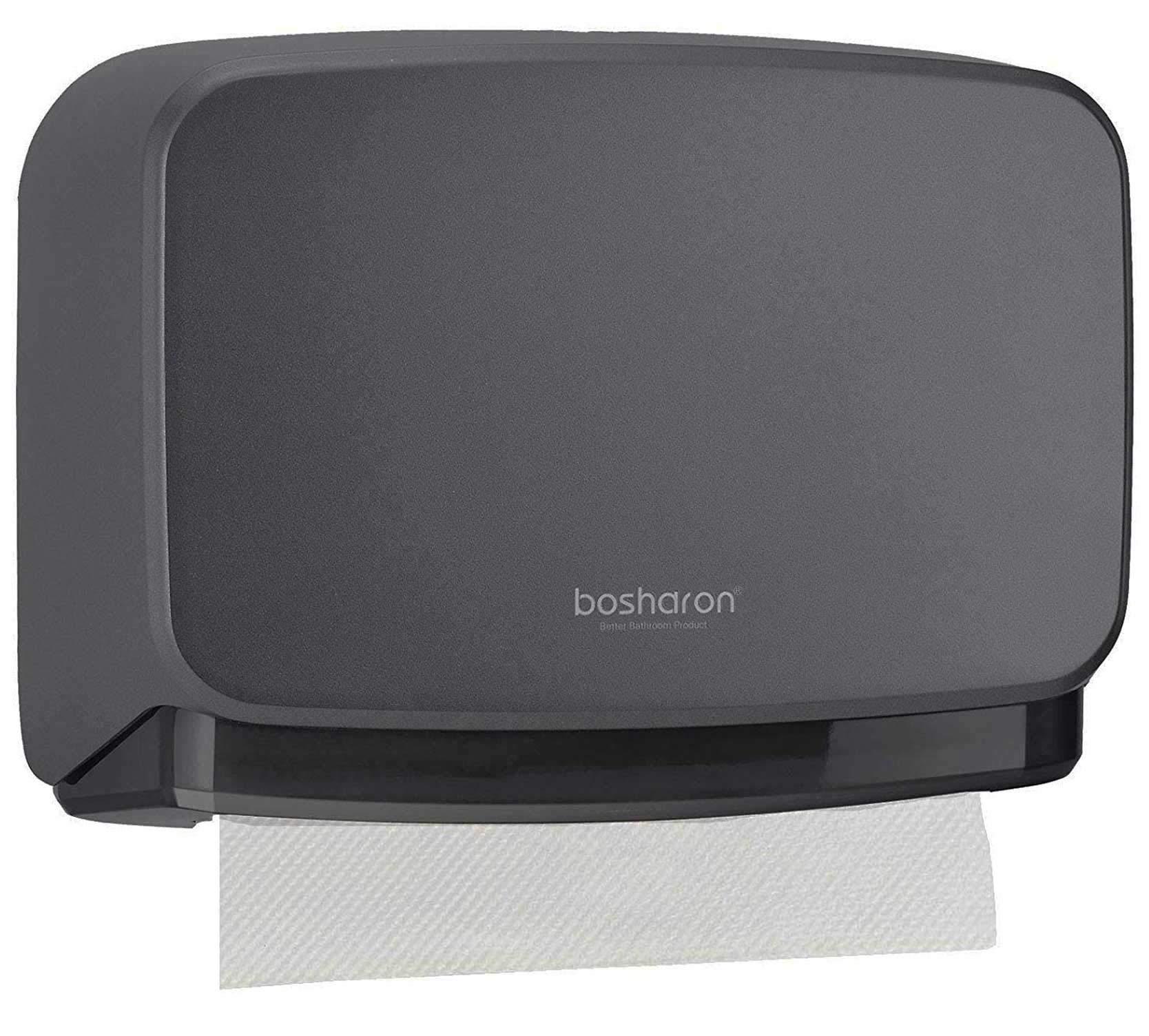 Bosharon Wall-Mounted Paper Towel Dispenser Bathroom Tissue Dispenser Tissue Holder (Grey) by Bosharon