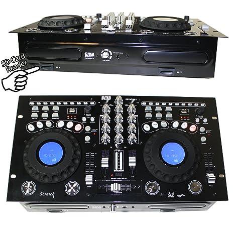 EMB - EB9005MX - NEW Professional DUAL CD/USB/SD/MP3 Mixer CDJ Scratch  Player!