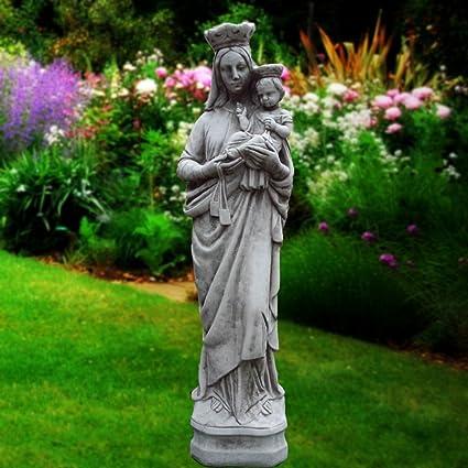María de la Virgen y el Niño - religiosa del molde de la mano de jardín