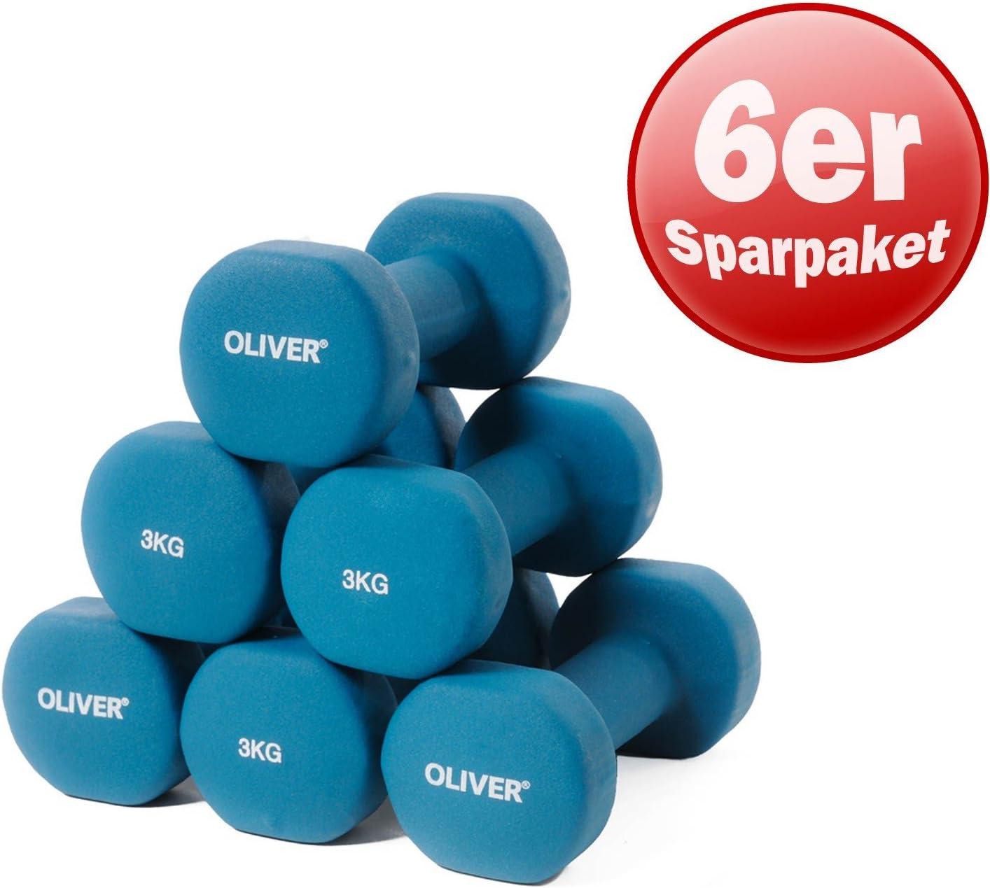 cantidad de descuento mancuernas Soft-Touch gimnasia aerobic Oliver Juego de pesas neopreno 2//3//5//6; Varios pesos paquete ahorro pesos