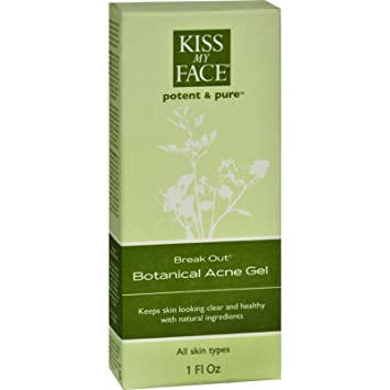 Kiss My Face, Break Out, Botanical Acne Gel, 1 fl oz (pack of 2) Gentle Nourishing Organic Cleanser For Dry & Sensitive Skin - 6.7 fl. oz. by Desert Essence (pack of 4)