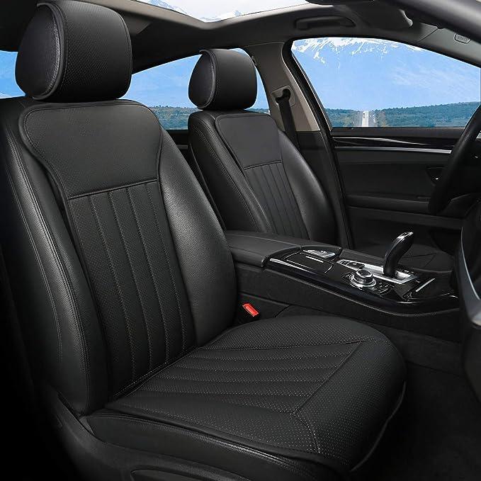 Black Panther Sitzauflage Auto Autositzbezüge Vordersitze Vier Jahreszeit Universal Anti Rutsch Sitzauflagen Auto Fahrersitz Mit Rückenlehne 2pcs Schwarz Auto
