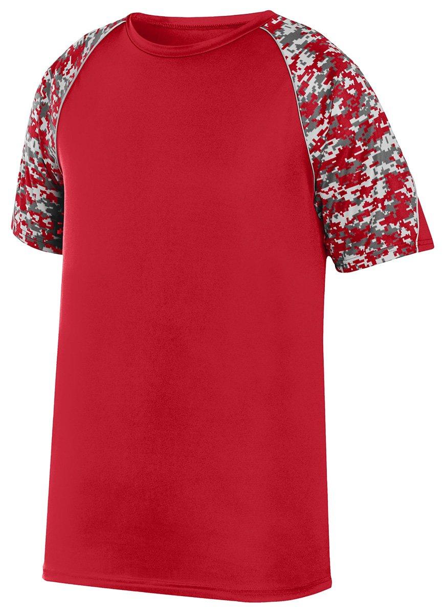 Augusta Sportswear Boys 'カラーブロックDigi Camo Jersey B01C5FSB9O Medium|Red/Red Digi/Silver Red/Red Digi/Silver Medium