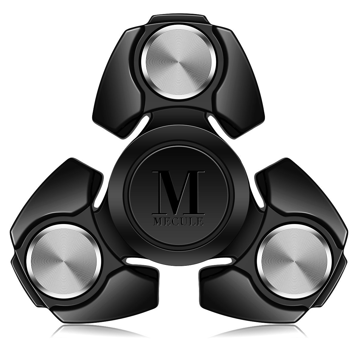 MECULE Fidget Spinner EDC Toy Premium Hand Spinner Durable ABS Original Design Tri Spinner Relieves Stress and Anxiety, Black