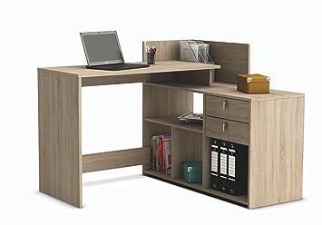 escritorio mesa de estudio ordenador cm roble para despacho ordenador dormitorio juvenil