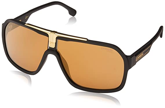0b733da97 Carrera CARRERA 1014/S MATTE BLACK/BROWN GOLD men Sunglasses: Amazon ...