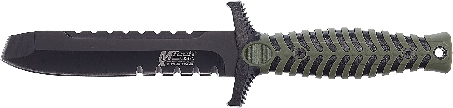 MTECH USA Xtreme MX-8089BGT Fixed Blade Knife, 7.5-Inch