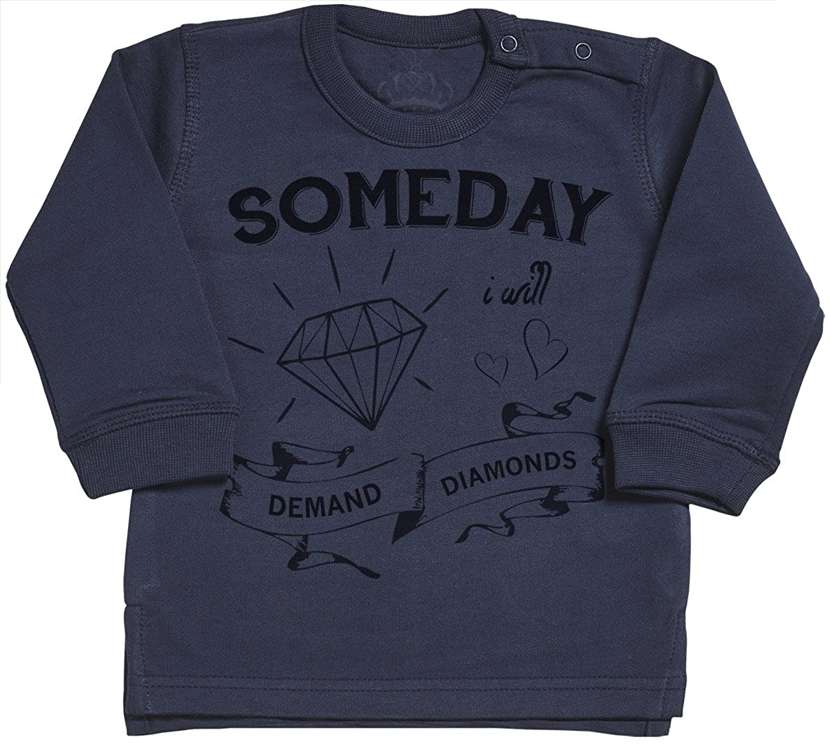 SR Baby Jumper Baby Sweatshirt Someday I Will Demand Diamonds Baby Sweater Baby Boy Sweater Baby Girl Sweater
