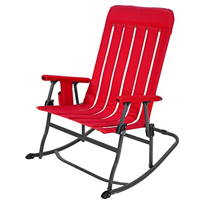 Member's Mark Portable Rocking Chair - Red: Kitchen & Dining