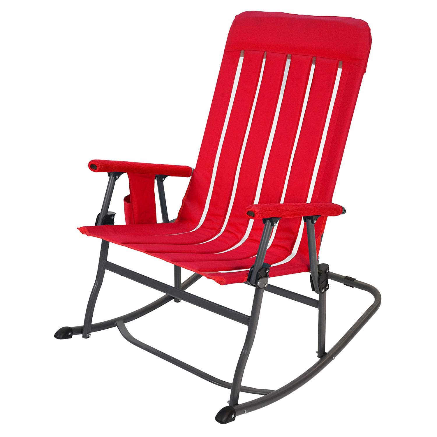 Member's Mark Portable Rocking Chair - Red by Member's Mark