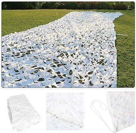 Red De Camuflaje Blanca, Protector Solar for Jardín Malla De Camuflaje 3x5m for La Caza Disparar Balcón Terraza Protección Privacidad Cubierta Cubierta Decoración Toldos Vela, 4m 6m 7m 8m 10m: Amazon.es: Hogar