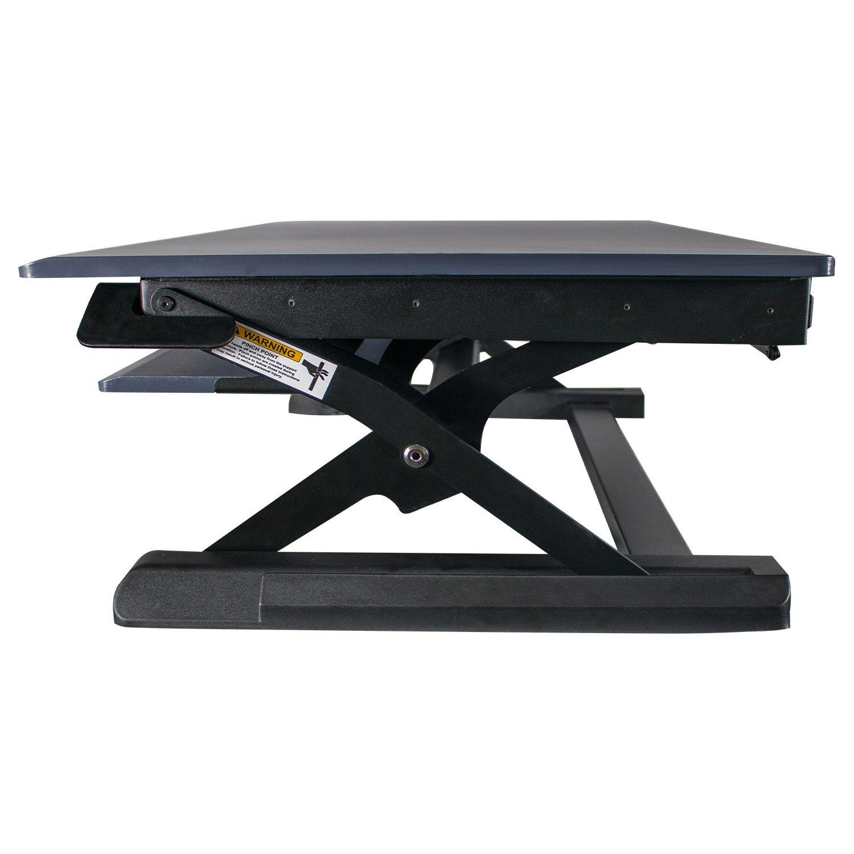 """Black Heyesk Height Adjustable Standing Desk Converter Riser-Portable Desktop 37/"""" Stand Up Workstation"""