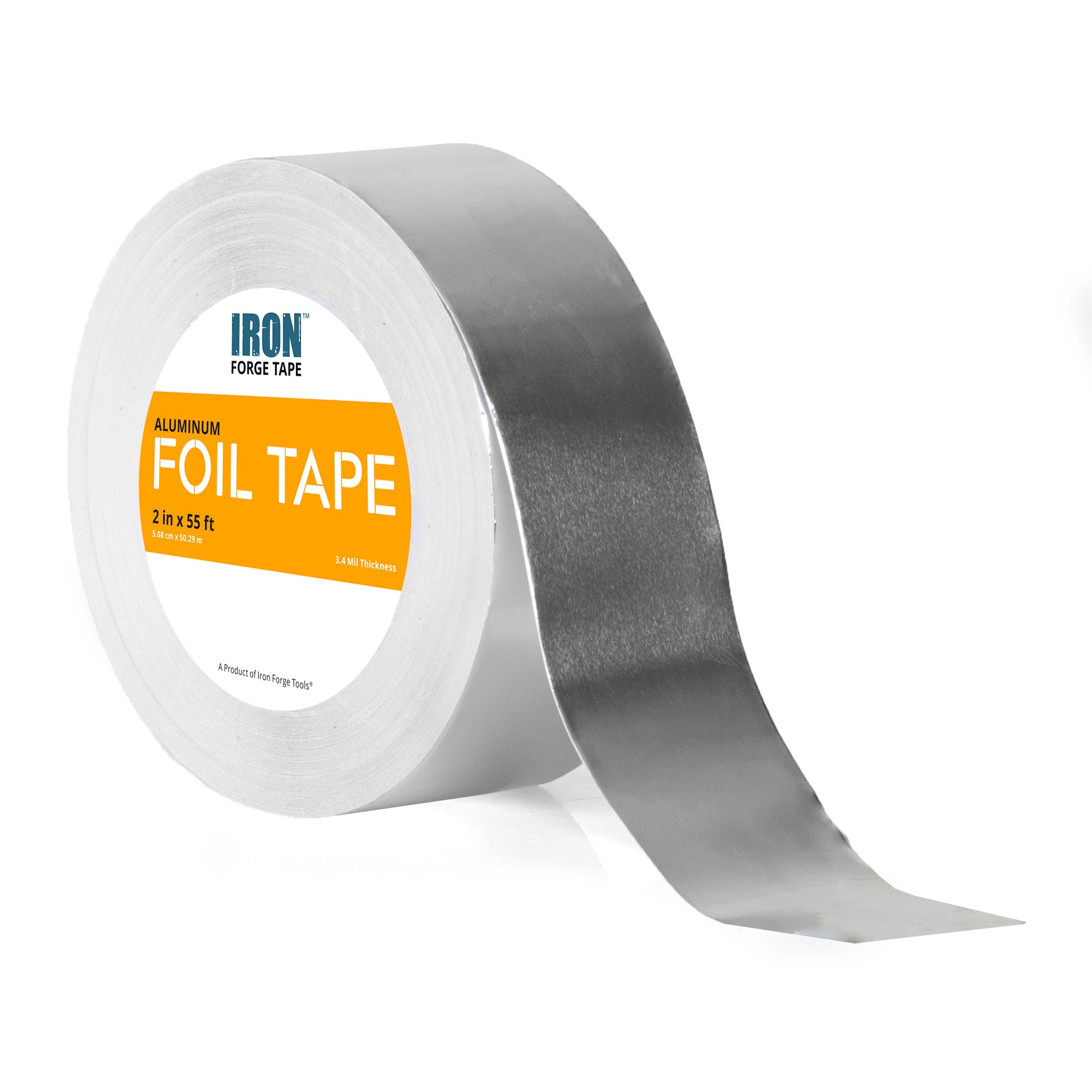 Aluminum Foil Tape Roll - 2 inch x 55 Yards Heavy Duty Tin Foil Duct Tape for HVAC