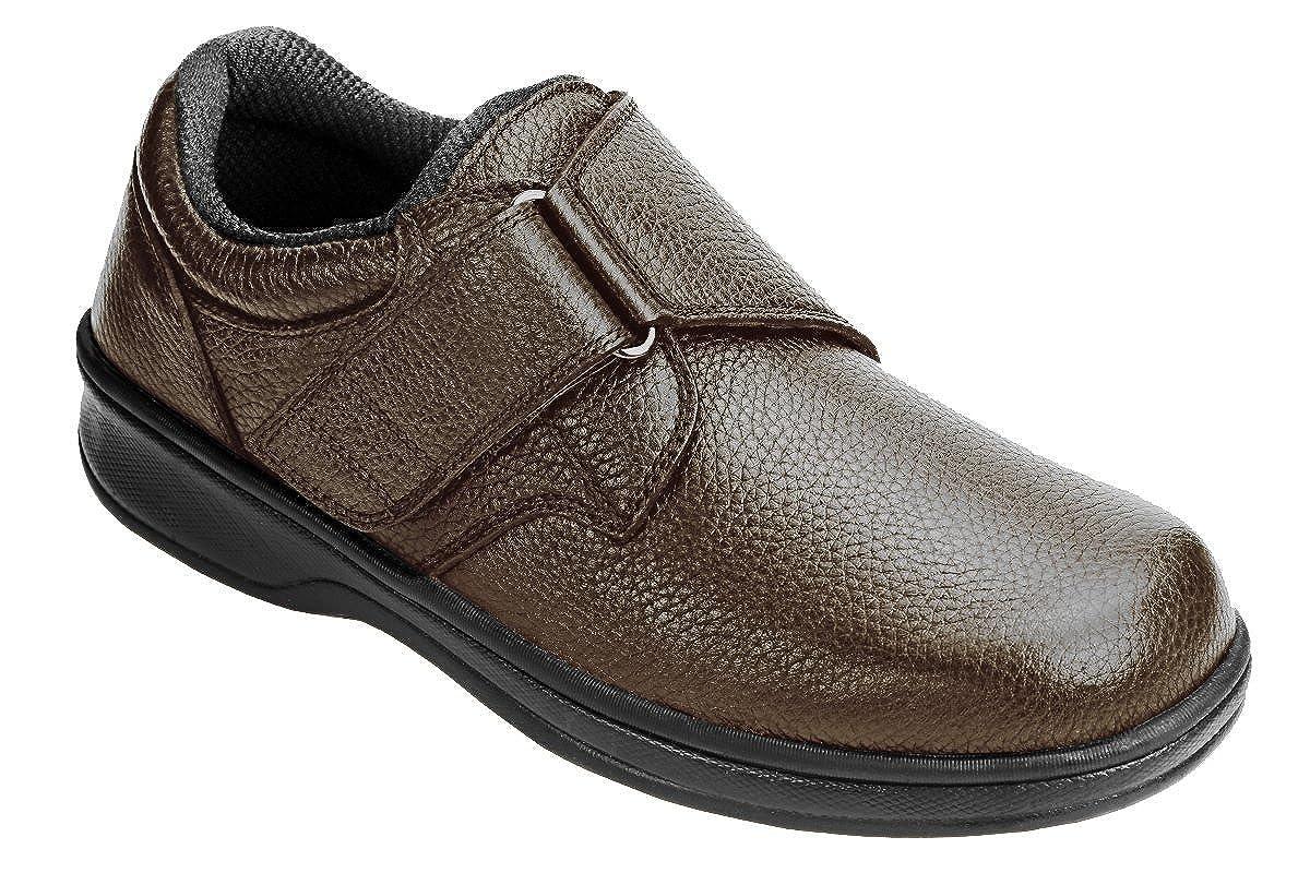 b70013863d Amazon.com: Orthofeet Proven Pain Relief Plantar Fasciitis Orthopedic  Comfortable Diabetic Flat Feet Broadway Mens Shoes: Shoes