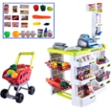 deAO Kids Role Play Supermarket Set Superstore Shop Toys Children Supermarket