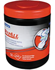 """Kimberly-Clark WypAll 58310 Waterless Hand Cleaning Wipe, 10"""" Length X 12"""" Width, (8 Canisters of 50)"""
