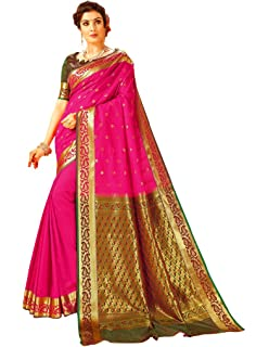 Craftsvilla Women S Bangalore Silk Traditional Zari Border Purple
