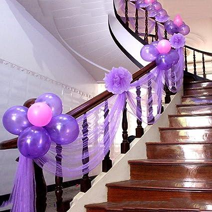 Leoie 2pcs 10Y Yarn Crystal Tulle Organza Sheer Gauze Element for Birthday Party DIY Dress Wedding Decor