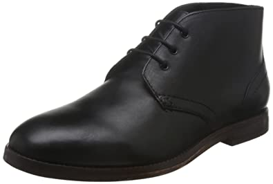 H by Hudson Men's Houghton 2 Chukka Boot, Black, ...
