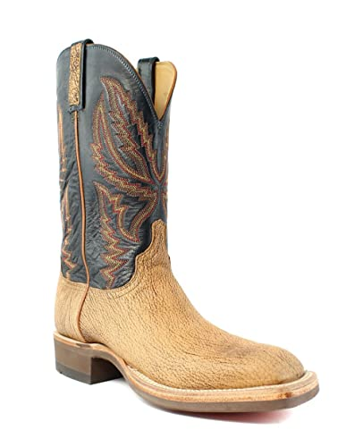 Lucchese HX2504.W8 Archer Mens Tan Old English Goat Leather Cowboy Western  Boots