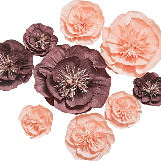 24 PAPER FLOWERS PASTEL TONES WiTH TACKS FREE SHIPPING NEW IN PACKAGE