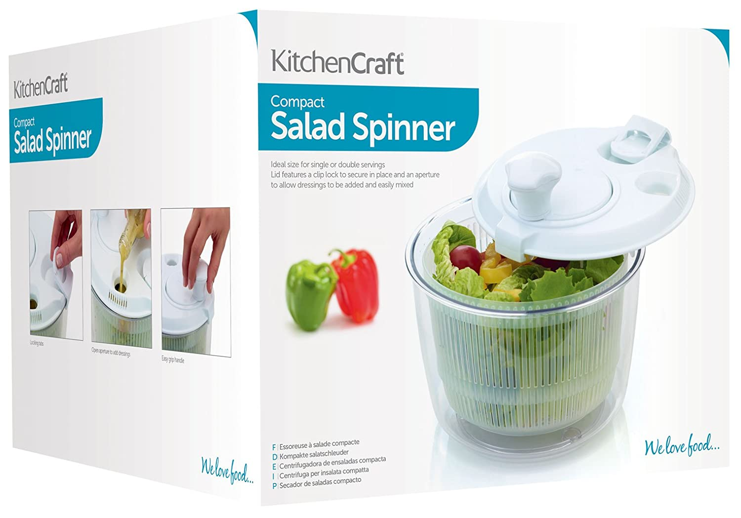 Amazon.com: Kitchencraft Mini Salad Spinner / Dresser, 19cm (7.5