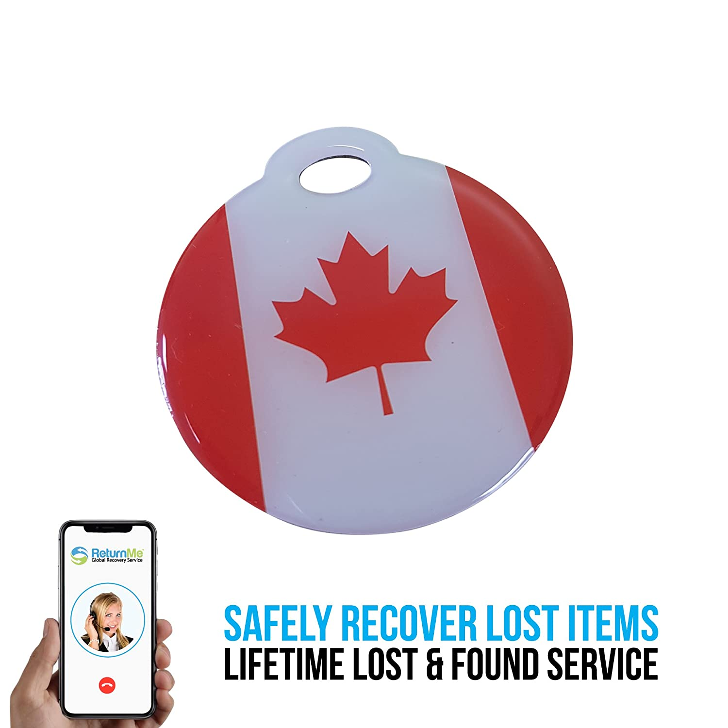 Smart Luggage ID Tags with Lifetime Global Recovery Service (Pink - 2 Pack) TG307