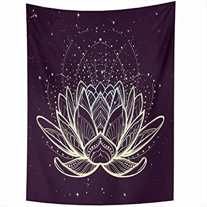 Amazoncom Alliucoo Wall Tapestries 50 X 60 Inches Lotus Flower