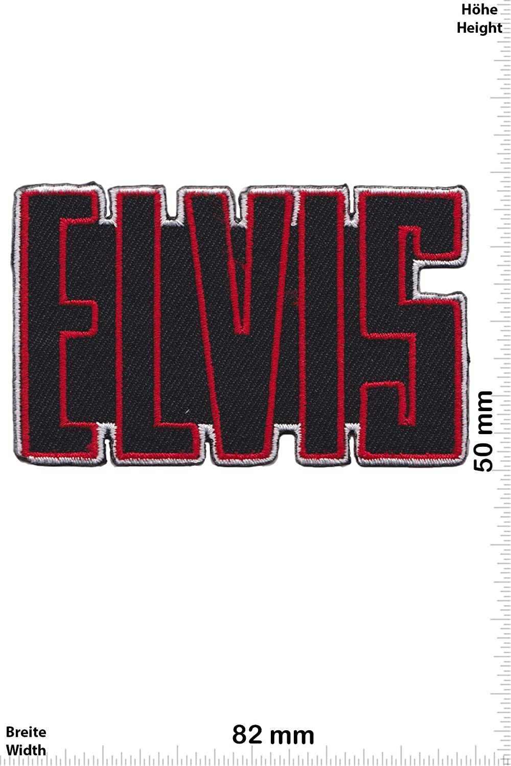zum aufb/ügeln Elvis Patch Font Musik Iron On Aufn/äher Elvis